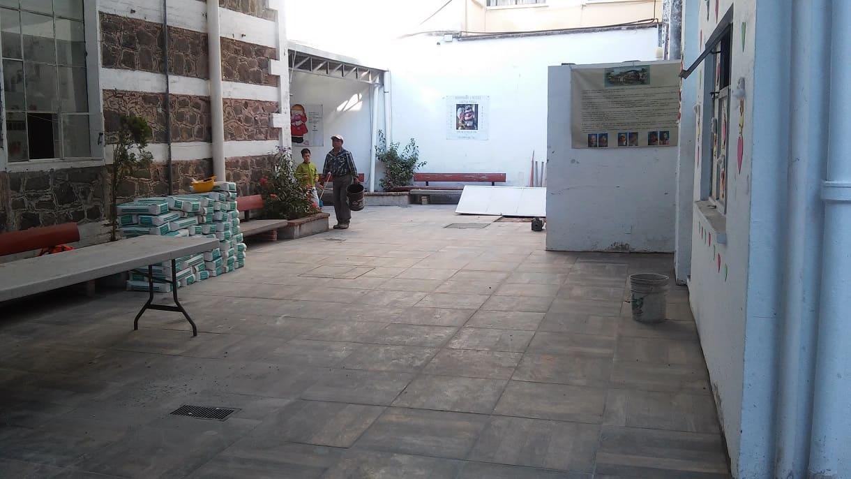 PISO NUEVO PATIO SIN TECHO Fundacion Caritas Puebla Concauce