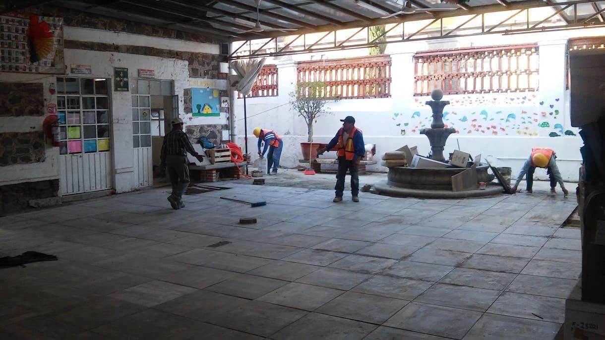 PISO NUEVO PATIO TECHADO Fundacion Caritas Puebla Concauce